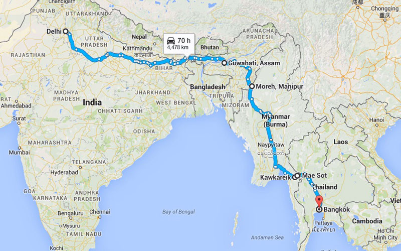 India-Myanmar-Thailand Road Map